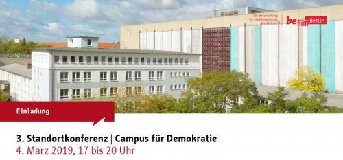 Einladung zur öffentlichen 3. Standortkonferenz Campus für Demokratie