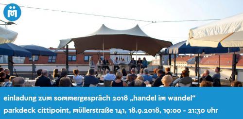 """Sommergespräch """"der handel im wandel"""" in der Müllerstraße"""