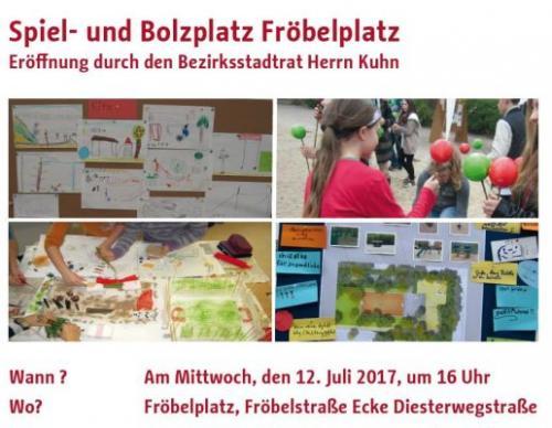 Eröffnung Spiel- und Bolzplatz Fröbelplatz