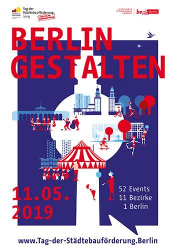"""Plakat """"Berlin gestalten"""" zum Tag der Städtebauförderung 2019"""