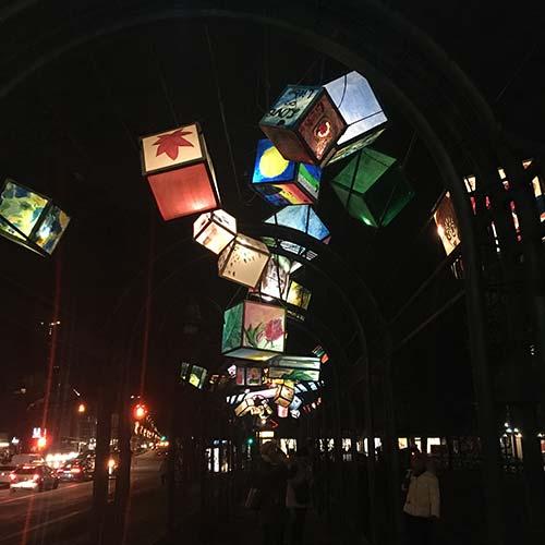 Lichtergalerie an der Residenzstraße