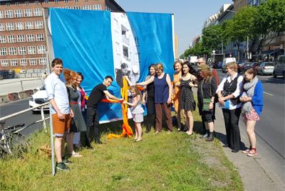 Enthüllung der Kunstwerke auf der Müllerstraße