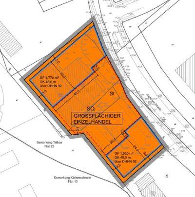 """4. Änderung des Bebauungsplanes Nr. 3 """"Büro- und Gewerbepark Techno-Terrain-Teltow"""" in Teltow"""