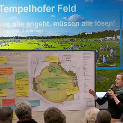 Partizipativer Prozess zum Entwicklungs- und Pflegeplan Tempelhofer Feld