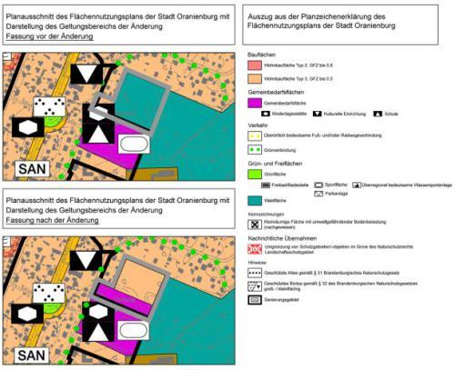 Flächennutzungsplan der Stadt Oranienburg - Änderungsverfahren