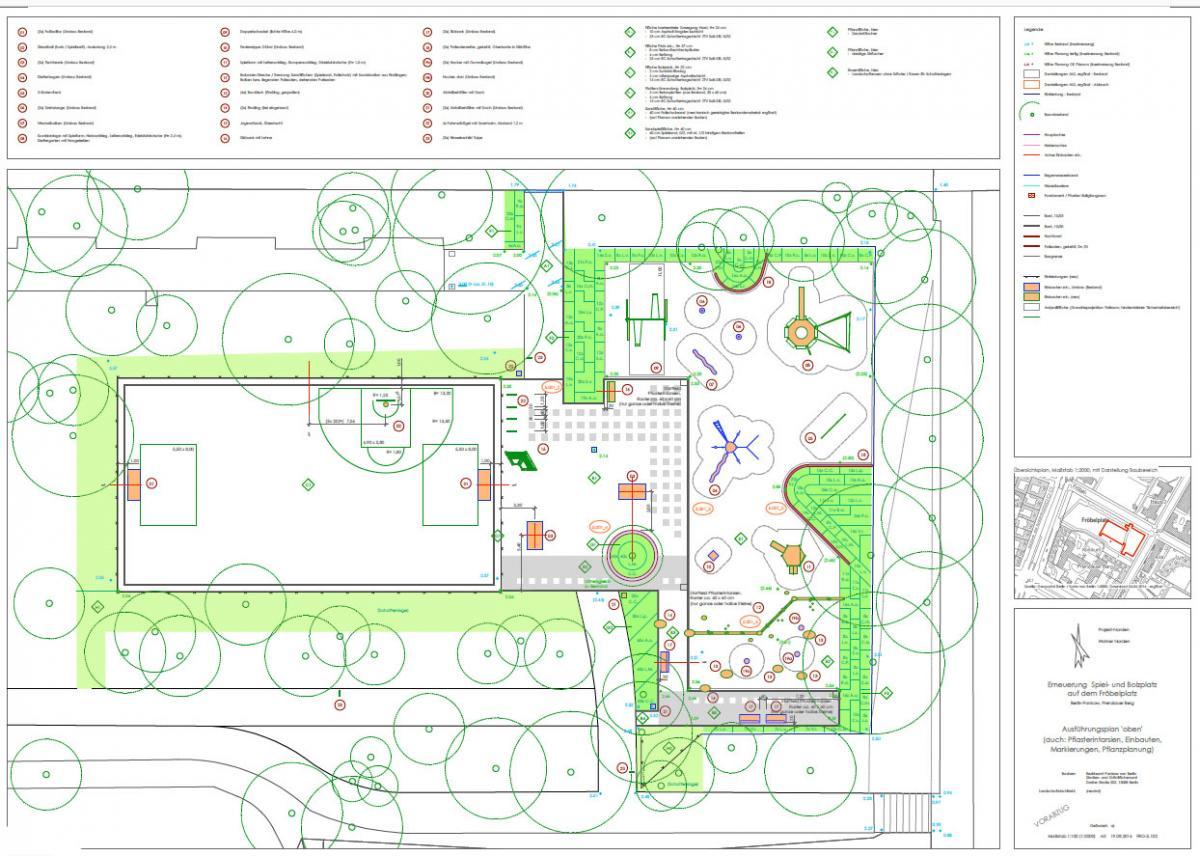 Ausführungsplanung Spielplatz Fröbelplatz Vorentwurf